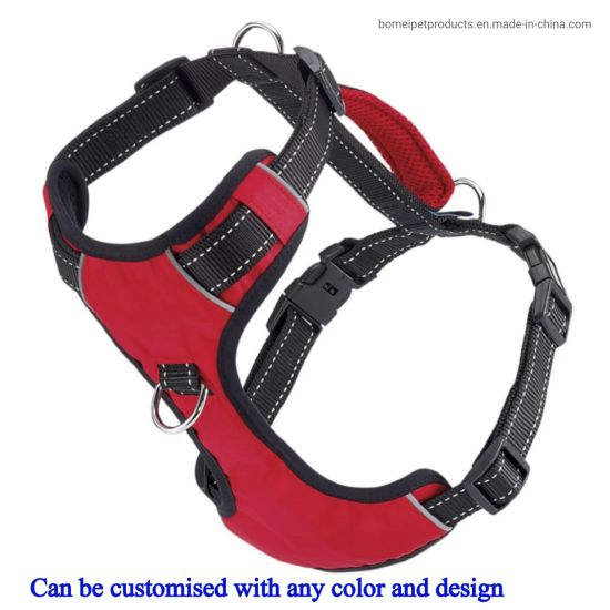 2021 New Hot Selling Reflective Adjustable No Pull Dog Harness Breathable Mesh Dog Vest Harness with Soft Handle