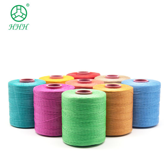 100% Polyester Sewing Waxed Thread for Shoes and Leathers