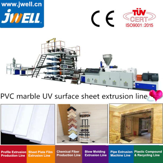 Jwell-PVC Plastic Marble UV Imitation Surface Sheet Recycling Agricultural Making Extrusion Machine Used in Advertisement Board|Exhibition Board|Picture Frame