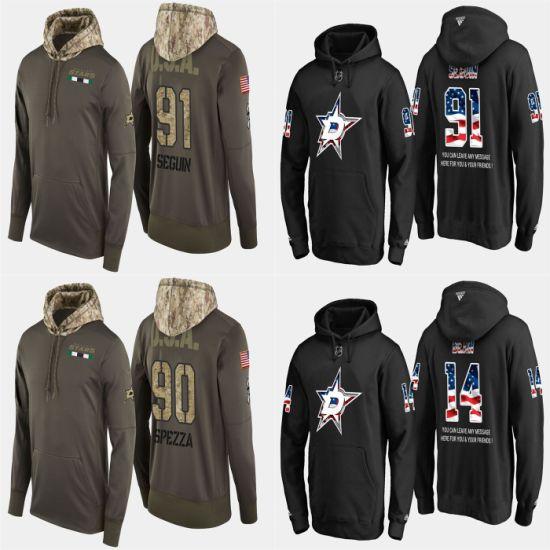 Military USA Flag Stars Tyler Seguin Jason Spezza Pullovers Hoodies