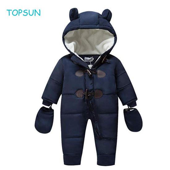 Toddler Baby Winter Clothing Newborn Fleece Bunting Children Snowsuit Garments Girl Boy Snow Wear and Outwear Goods 0-24 Months