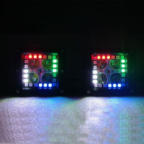 Wholesale Factory Price12V 3inch RGB Bluetooth Control LED Pod Cube Work Light for Toyota Land Cruiser