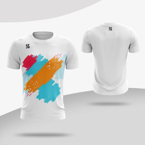 2019 New Wholesale Cheap Custom Design Sublimation Printing Short Sleeve Tshirt