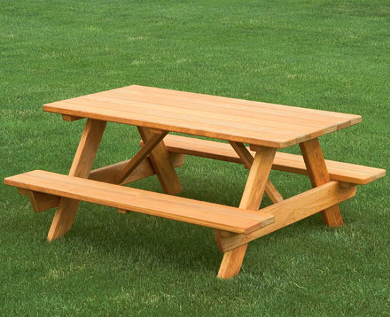 Kids Outdoor Solid Wooden Picnic Table, Outdoor Kids Table