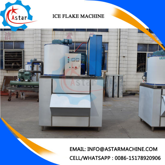 2000kg Per 24 Hours Flake Ice Machine for Supermarket Seafood