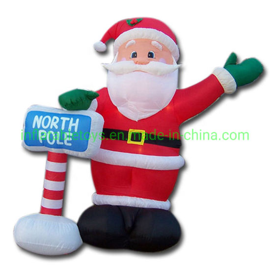 Giant Inflatable Santa Claus, Inflatable Father Cartoon for New Year Decoration
