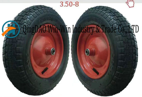 Wear-Resistant Pneumatic Rubber Wheel for Hand Truck (3.50-8) pictures & photos