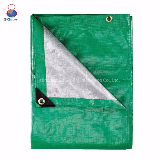 Coated Waterproof Tarp Fabric Sheet Cover PP/PE Tarpaulin