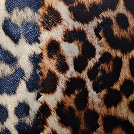 PVC Printed Leather for Bags, Shoes pictures & photos