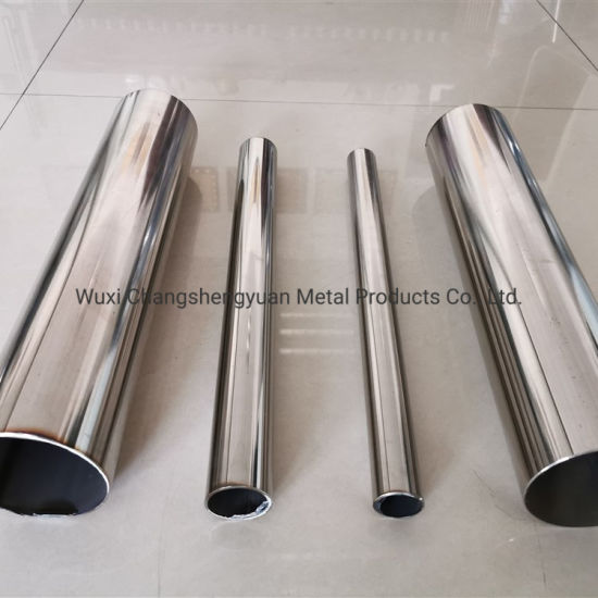 Hot Rolled Mirror Finish Custom Stainless Steel Pipe with Grade 201/202/301/304/304L/3160316L/430/904L