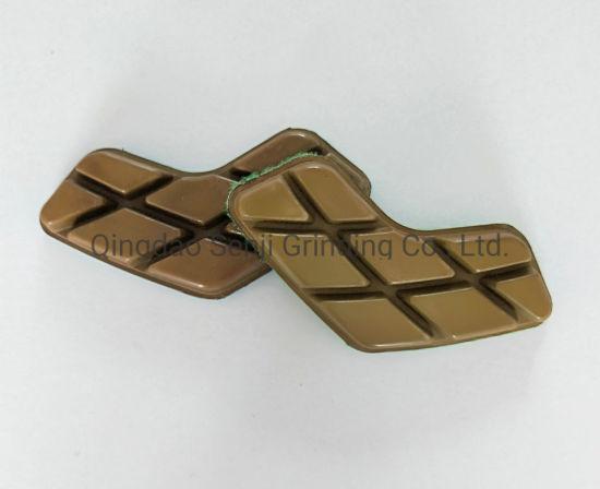 Boomerang Shape Wet Dry Granite Marble Concrete Terrazzo Floor Polishing Pad Abrasive Tool For Grinding Machine