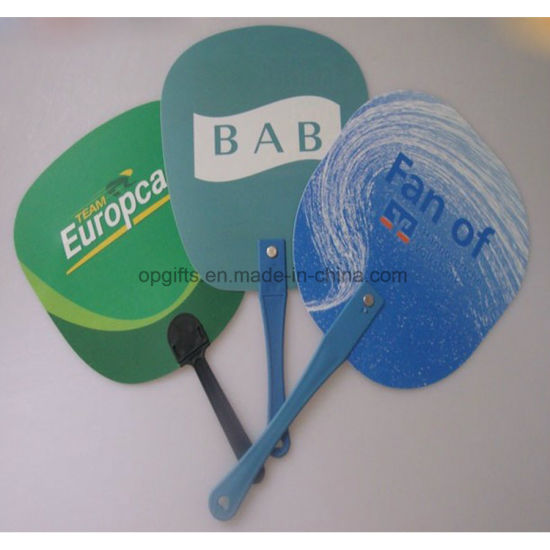 Promotional Customized PP Hand Fan, Plastic Folding Fan pictures & photos