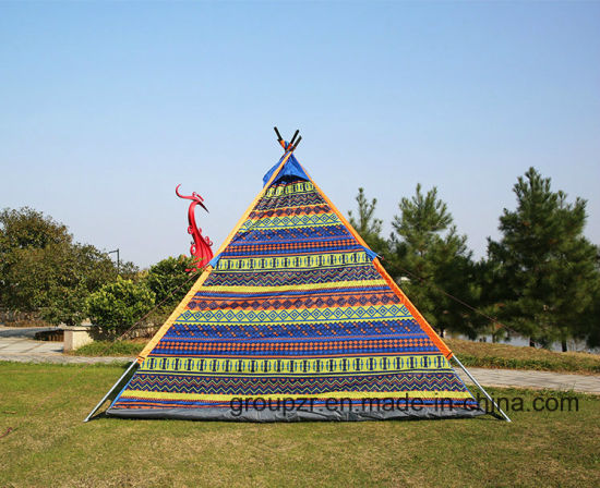 Indian 3-4 Persons Teepee Tent for Camping, Beach pictures & photos