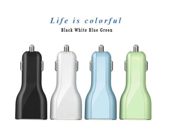 3 USB Ports 3.1A / 7.2A Portable USB Car Charger with Black and White Color for iPhone/Huawei/Samsung pictures & photos