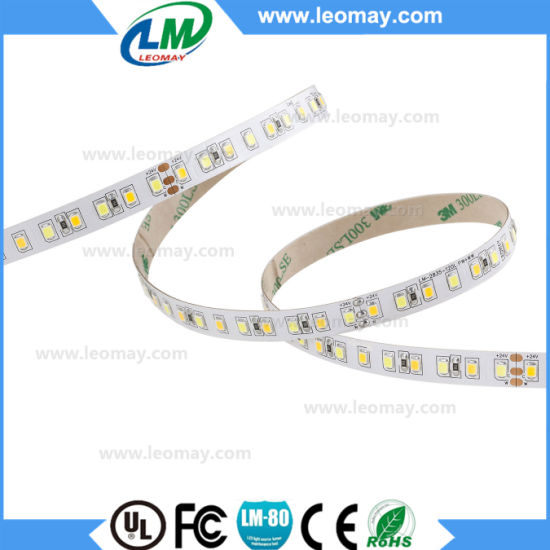 warm white 3000K non-waterproof 24V 2835 Car Light LED Strip pictures & photos