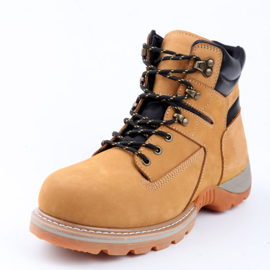 Mountaineering Suede Leather Casual Safety Shoe/Canvas Work Footwear