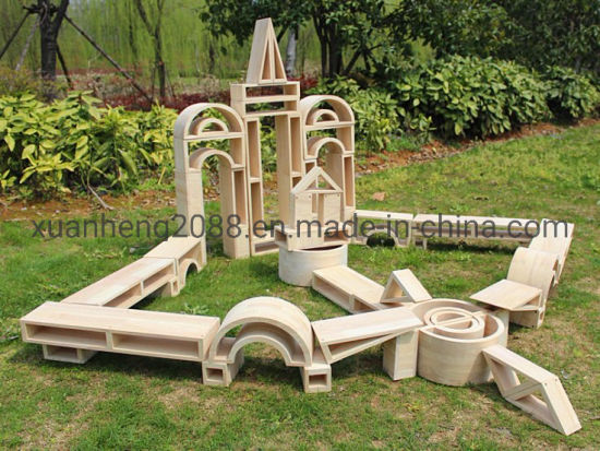 Large Hollow Log Color Blocks Supplier Educational DIY Outdoor Toys