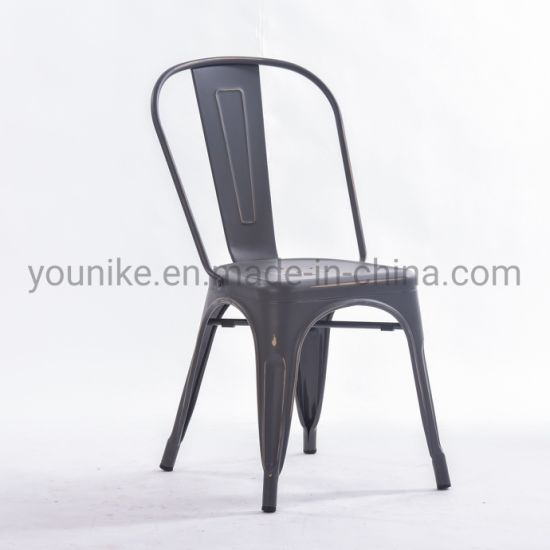 Enjoyable Vintage Black Metal Dining Indoor Outdoor Use Stackable Industrial Tolix Chair Theyellowbook Wood Chair Design Ideas Theyellowbookinfo