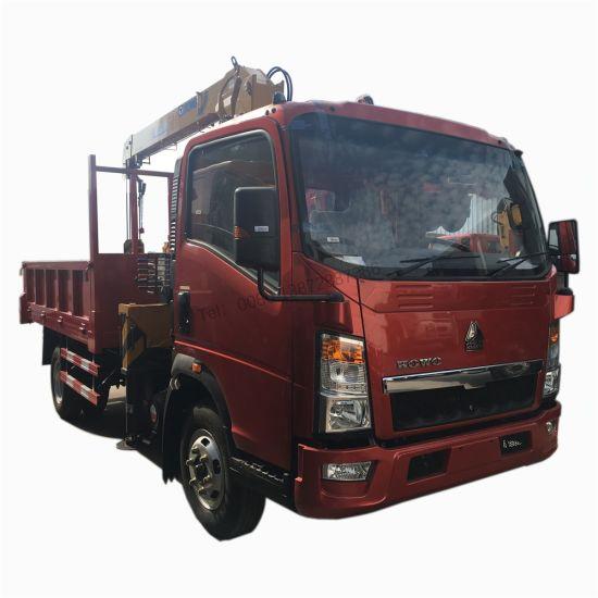 HOWO Rhd Light 4X2 Mini Truck Mounted Crane 3.2tons