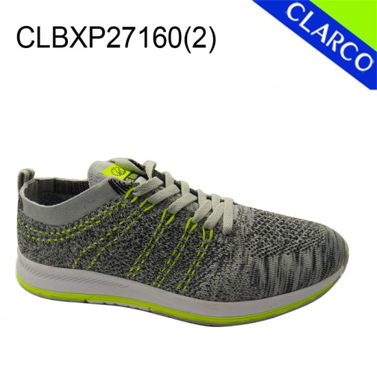 Resilient Breathful Flyknit Mesh Men Sports Sneaker Shoes pictures & photos