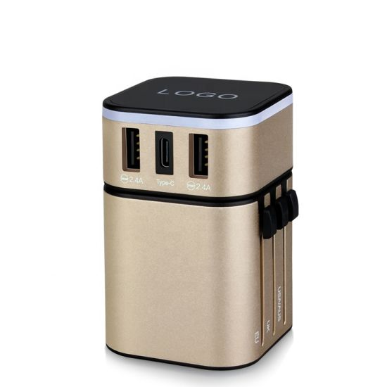 Universal Travel Adapter/Electrical Gift Items World Universal Travel Adaptor with Dual USB
