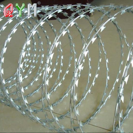 Cbt-65 PVC Galvanized Concertina Razor Barbed Wire
