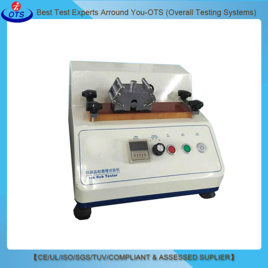 Aatcc Electronic Ink Rubbing Fastness Friction Tester