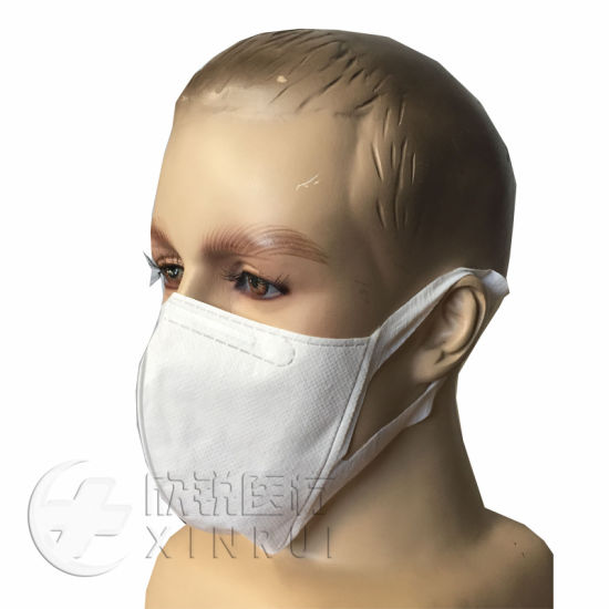 Disposable Protective Non Woven Dust Particulate N95 Respirator 3D Face Mask with Soft Ear-Loop White pictures & photos