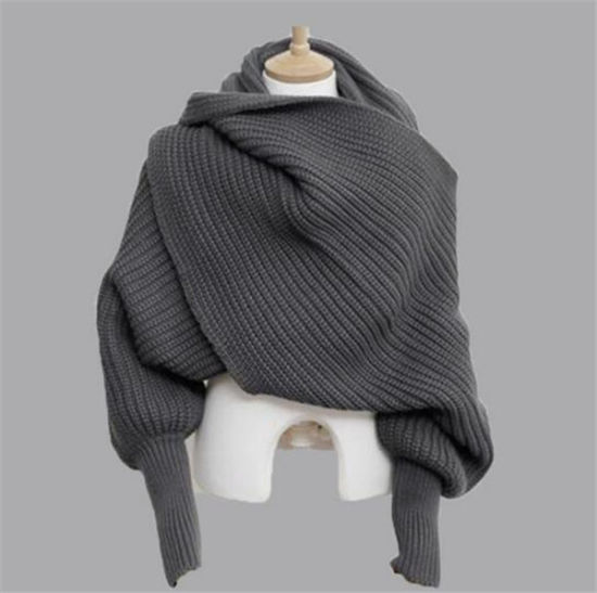Women Warm Scarf with Sleeves (50249) pictures & photos