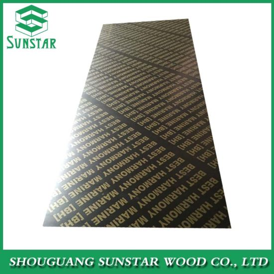 18mm Ffp Poplar/Hardwood/Finger Joint/Bamboo Black/Brown/Red/Green/Anti-Slip/Waterproof Film Faced Marine Plywood Sheet for Construction