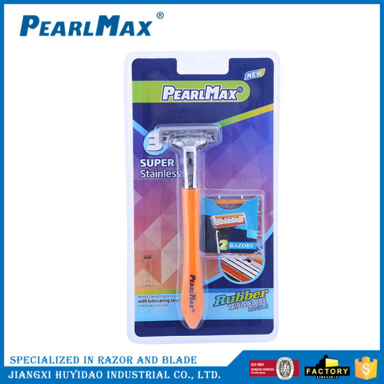 No Battery Shaving Stick with Changeable Cartridge