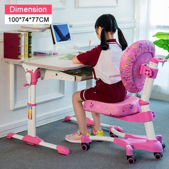 Brilliant China Kids Desk Backrest Chair Book Shelf Sliding Drawer Pabps2019 Chair Design Images Pabps2019Com