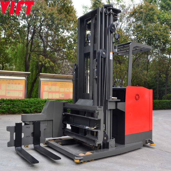 Manual Battery Stacker 7.5m 3ways Stacker AC Motor 3 Way Forklift