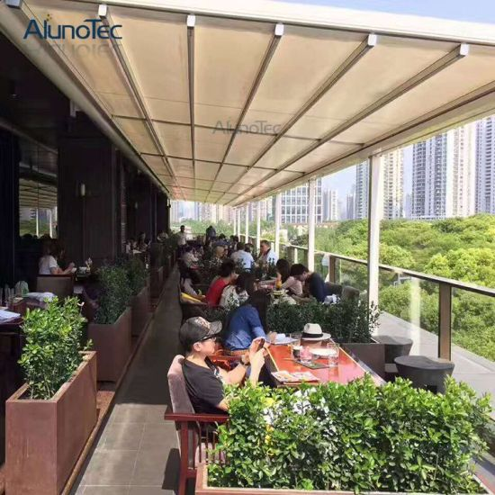china waterproof aluminum retractable awning for cafe shop china retractable awning. Black Bedroom Furniture Sets. Home Design Ideas