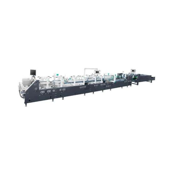 Automatic Corrugated Lcok Bottom Kfc Carton Medicine Cosmetics Mcdonald's Pizza Cake Lunch Fast Food Packaging Paper Box Forming Making Machine