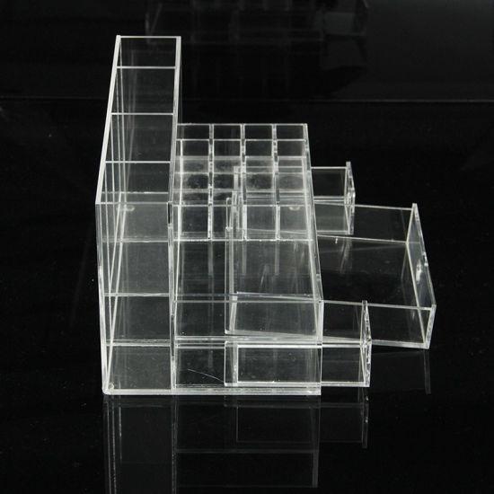 Big Acrylic Clear Cube Makeup Organizer