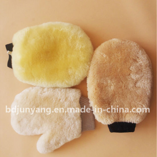 Sheep Wool Car Wash Mitt Genuine Sheepskin Car Wash Mitt pictures & photos