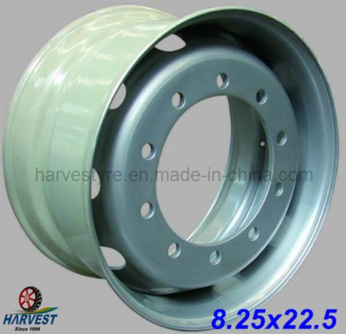 8.25X22.5 Tubeless Truck Tyre Steel Wheels