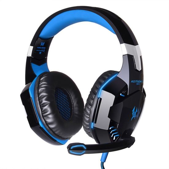 New Arrivals G2000 3.5mm USB Over Ear Professional Noise Canceling Wired Gaming Headphone Headset with Mic