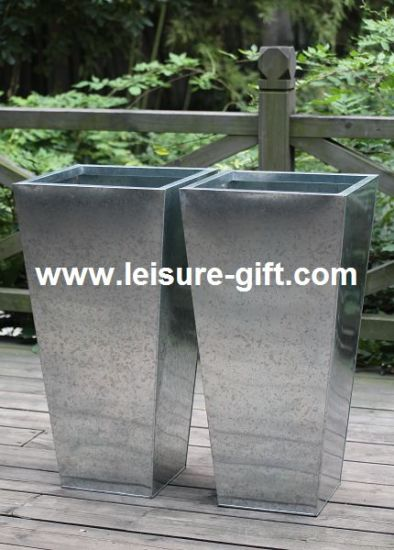 China Fo-9702 Zinc Planter for Home & Garden - China Zinc Flower Pot on round corrugated planters, wall mounted planters, aluminum planters, iron planters, plastic planters, corrugated raised planters, window boxes planters, urn planters, chrome planters, large planters, lead planters, copper finish planters, old planters, resin planters, bucket planters, pewter planters, stainless steel planters, stone planters, long rectangular planters, tall planters,