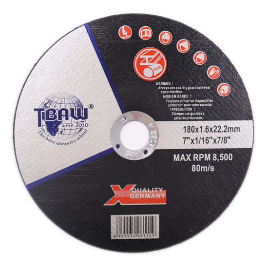 China Factory Hot Sale 180X16X22mm Asiatic Style Cutting Wheels for Inox