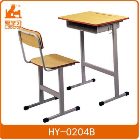 Classroom Student Studying Metal Wood School Furniture