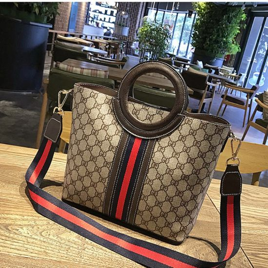 Wholesale China Factory Fashion Hand Bag Color Match Shoulder Sling Bag with Top Round Handle