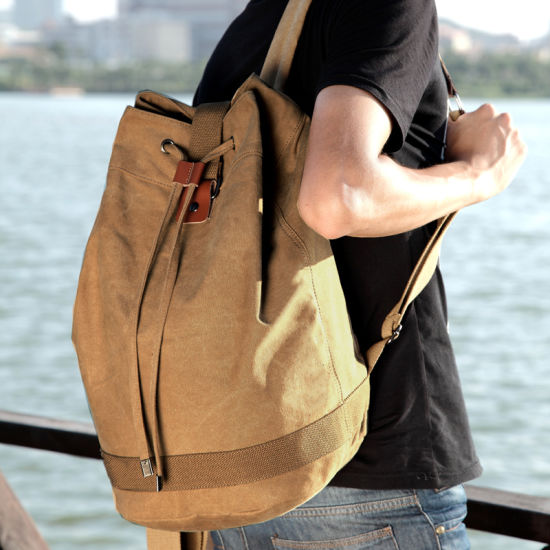 Factory Vintage Canvas College School Student Travel Sports Laptop Hiking Backpack