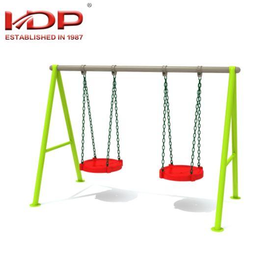 China 2018 New Design Two Seat Children Outdoor Playground Swing