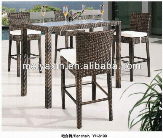 MB-132 Hot Sale Cheap Brown PE Rattan Spanish Bar Furniture