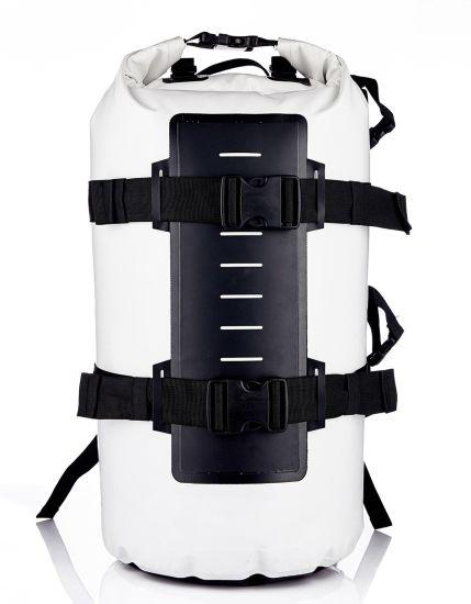 500d PVC Tarpaulin Fashion 50L Outdoor Waterproof Bag 50L Travel Bag Super Capacity School Bag Sports Bag Backpack Waterproof for Hiking with Shoulder Strap