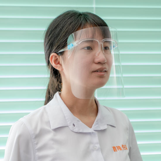 Top Sale Anti-Fog Safety Face Shield with Glass Glass Stents