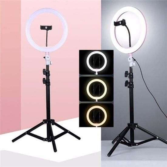 Mini Rechargeable LED for Camera Clip Makeup Smart Cell Phone Selfie Ring Light