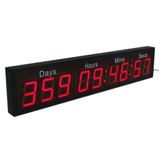2.3 Inch 9 Digit Days Time LED Digital Countdown Clock